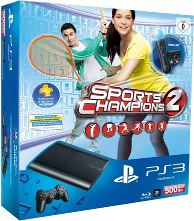 Sony PlayStation 3 Super Slim 500GB + Праздник Спорта 2 + Move Starter Pack